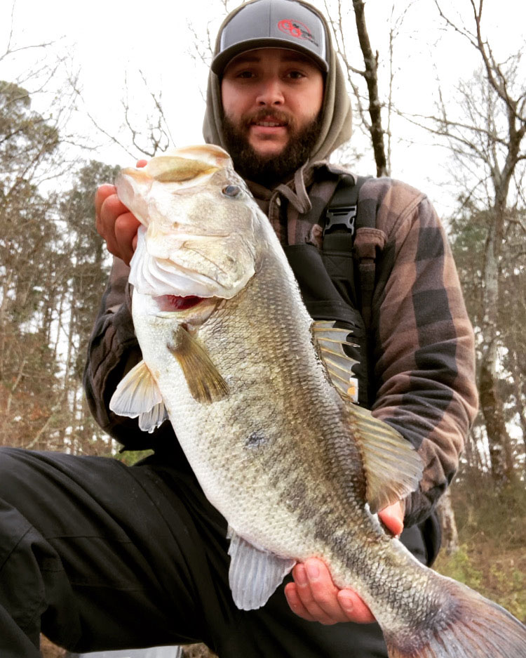 The next day, after catching the near 12 pounder, Cavalier landed this 7.15-pound largemouth.