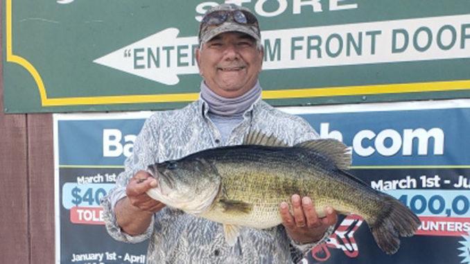 Jeffrey Tall of Jennings landed a 10.81-pound Toledo Bend bass on March 18.