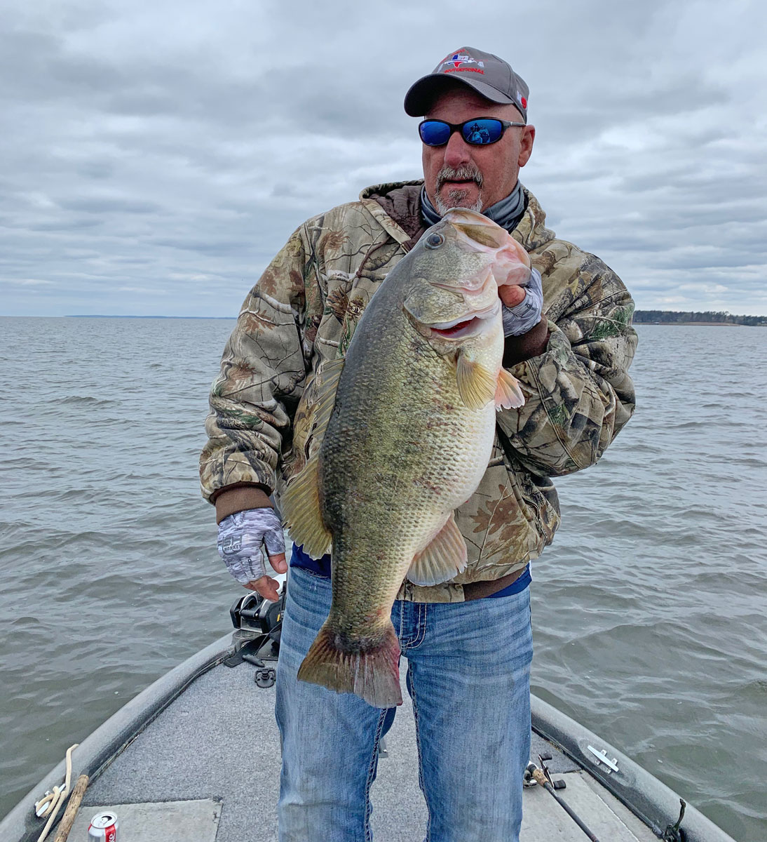 Keith Breaux landed this nice 11.51-pound Toledo Bend lunker on a C-Craw.