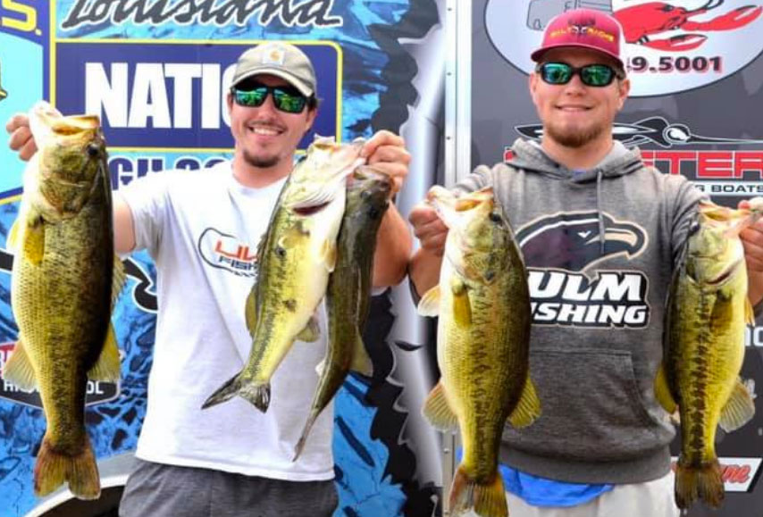 Wesley Banks and Luke O'Neal caught this nice 21.60 bag to finish second.