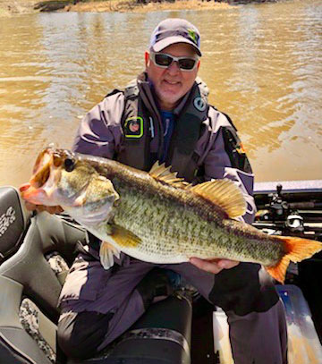 Todd Jackson landed this 10.81 lunker in two feet of water on a Rat-L-Trap to qualify for the Toledo Bend Lunker Bass Program.