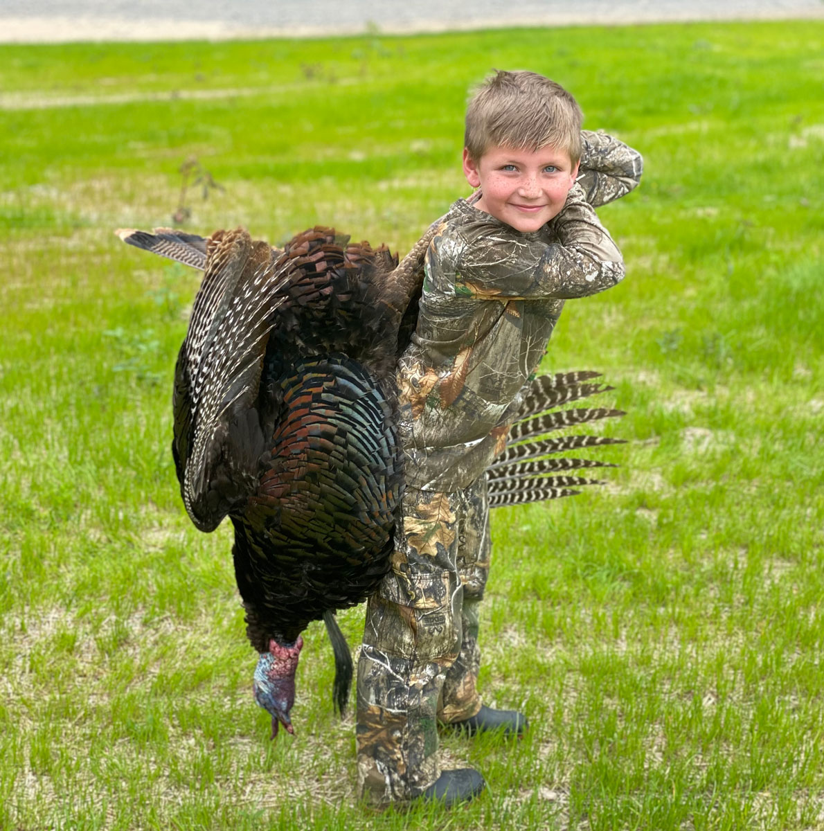 Hayden Johnson killed his third turkey on opening morning of the youth hunt weekend. His turkey had an 11-inch beard and 1 1/8-inch spurs.