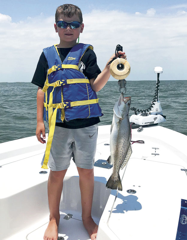 Hayes Schramm caught this nice trout while on a summer fishing trip in Venice. He was able to enter it in the youth division of the CCA Star Tournament.