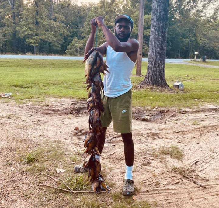 Kelvontae Scott of Jonesville caught these bream on crickets floated 2 feet under a cork in Concordia Parish.