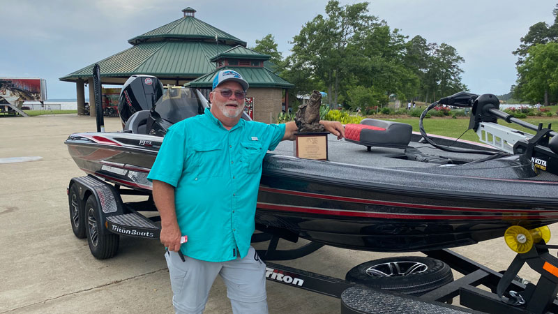 Steve Ruschmeier with some of his prize winnings.