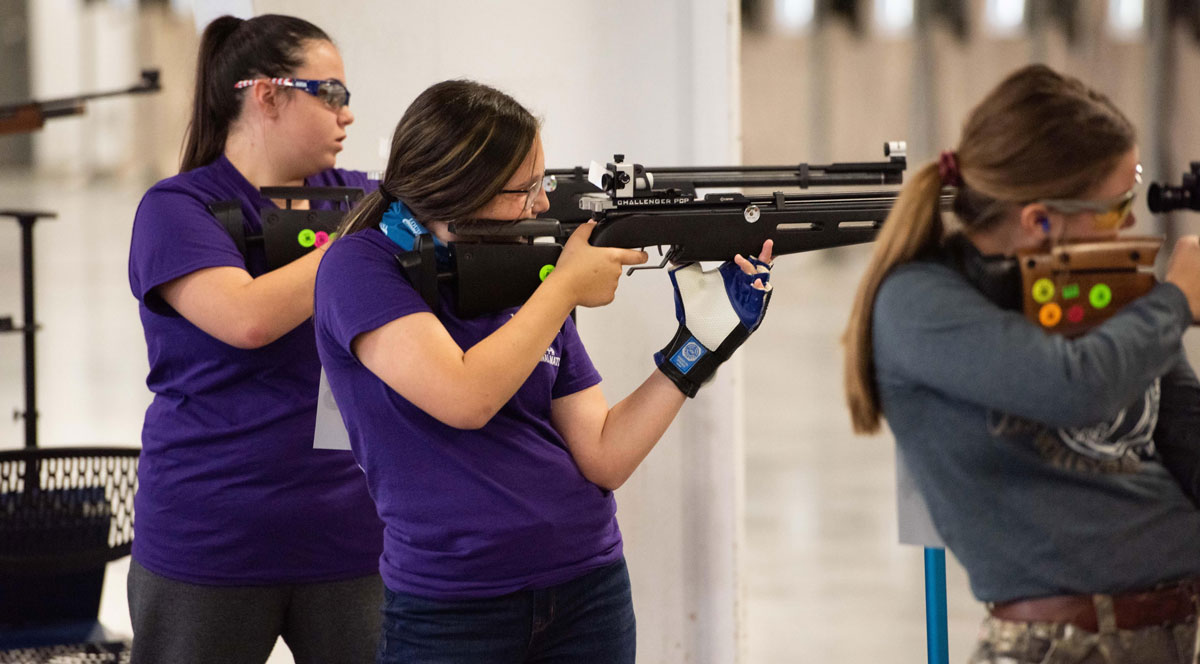 """Kaeli-Gracyn """"KG"""" Bourgoyne of Assumption Parish competed with the Louisiana National Air Rifle team at the event."""