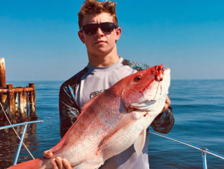 Sal Guagliardo with a 34-inch red snapper caught out of Grand Isle.