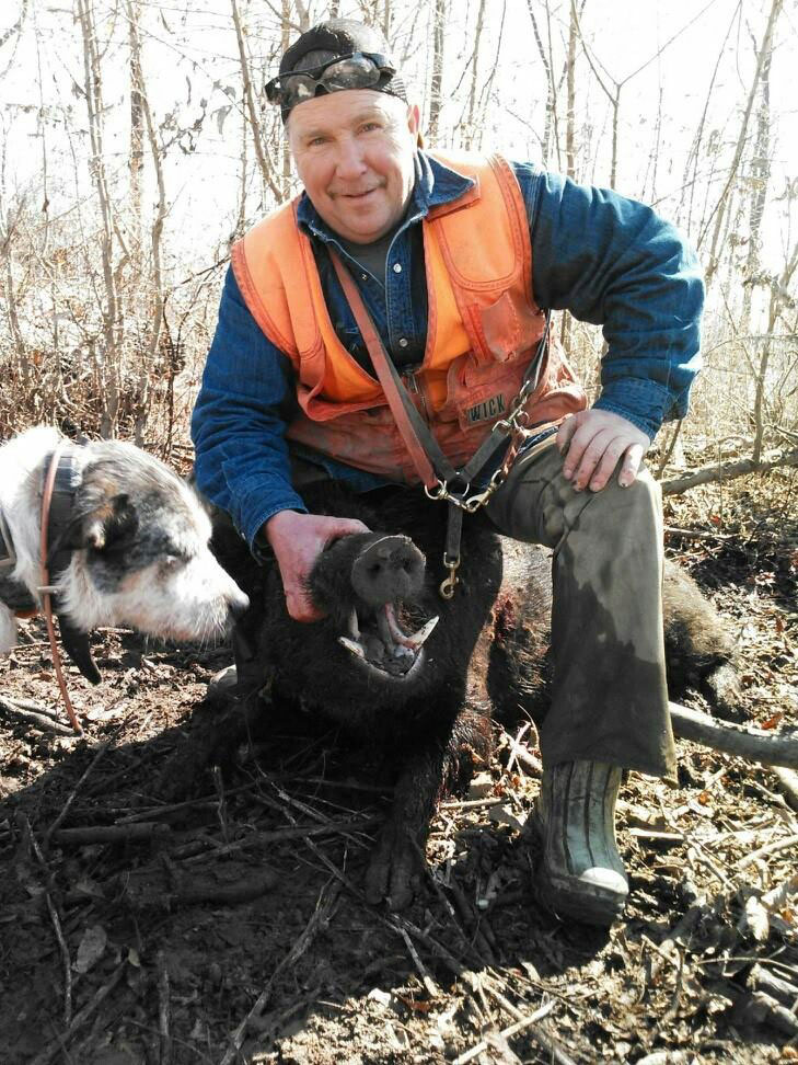 Donnie Haralson from Bogue Chitto has been at war with wild hogs for years. He traps, hunts them with dogs, and recently has started hunting them at night with thermal optics.