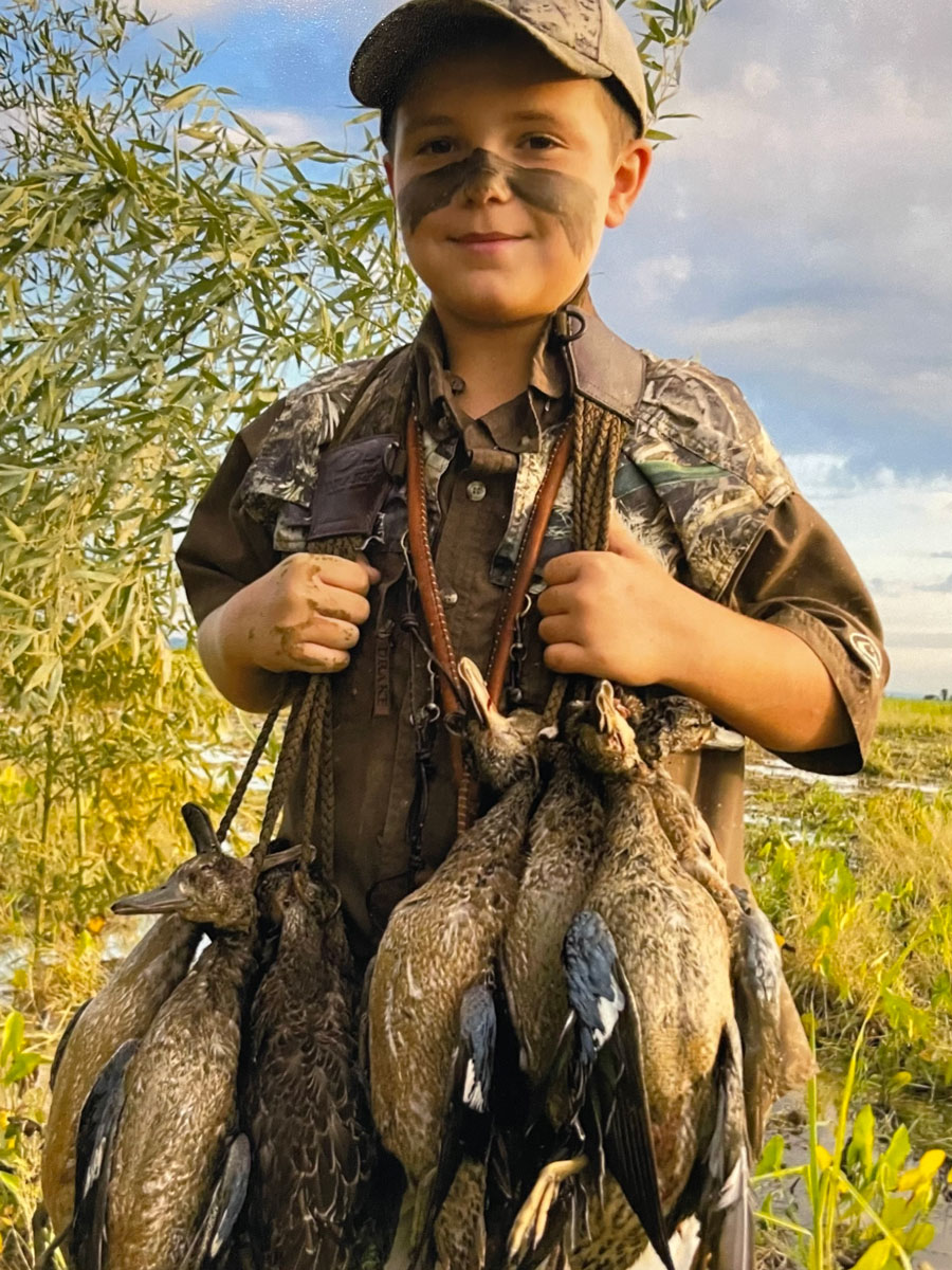 Brecken Figueiredo and his dad Tibby bagged their two man limit of teal on opening morning at Catahoula Lake.