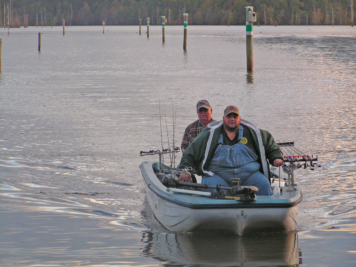 D'Arbonne is a stumpy lake and properly maintained boat lanes are a must for safe boating.