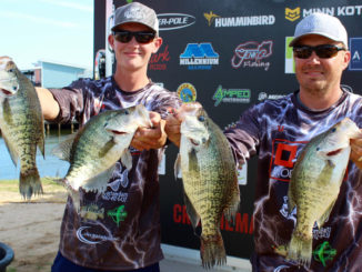 The Palmers with four fish from their final day that led them to victory.