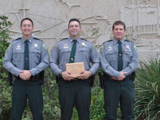 Capt. Trey Mason, Lt. Chad Watts and Major Rick Owens. (Photo courtesy LDWF)