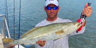 John Solari with his 2020 STAR champion 29-inch long, 8.27-pound speckled trout.