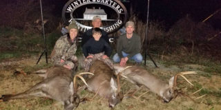 Three members of the Foti family from Lafayette downed three impressive bucks in Tensas Parish on the same afternoon.